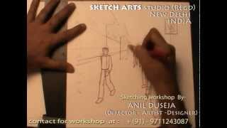 sketching workshop part 25, how to draw roadside view, market view