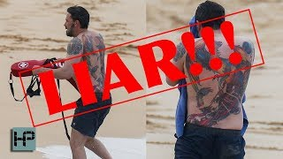 Ben Affleck is a LIAR!!! His Enormous Rising Phoenix Back Tattoo is REAL