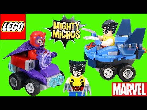 Lego Marvel Super Heroes Mighty Micros Wolverine vs. Magneto Adventure!