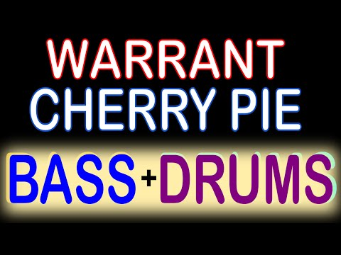 Warrant - Cherry Pie (Guitar Backing Track) with Karaoke Lyrics