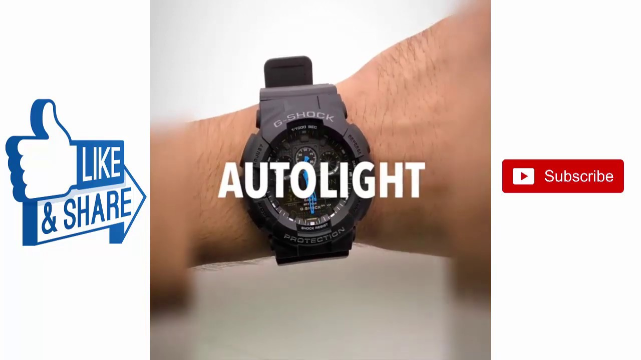 Ga 100gb autolight watch black colour | Watch Collections
