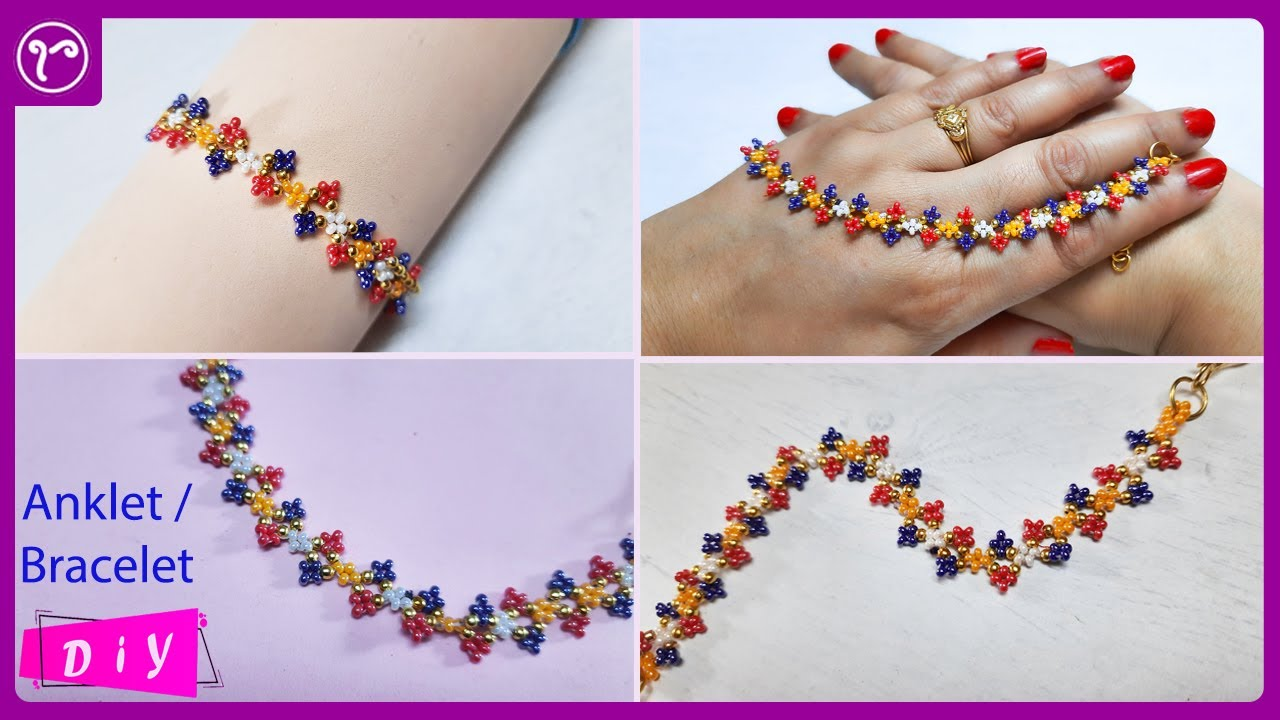 How to Make Rainbow Beads Bracelets at Home || Easy Tutorial for Beginners || Rubeads Jewelry DIY