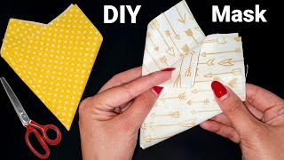 New Pattern So Easy Breathable Face Mask Sewing Tutorial Diy No Fog On Glasses Cute Face Mask