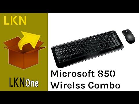 Unboxing of Microsoft Desktop 850 - Wireless Keyboard & Mouse Combo