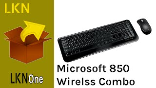 Unboxing of Microsoft Desktop 850 - Wireless Keyboard & Mouse Combo