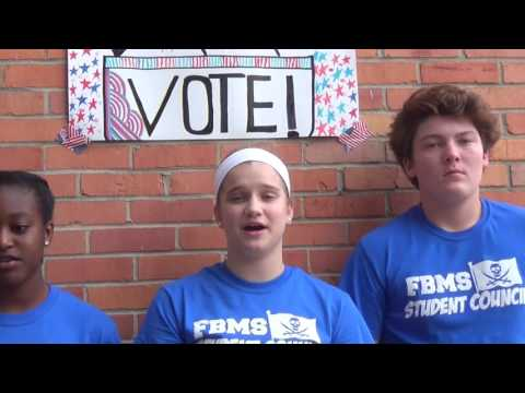 Fernandina Beach Middle School Student Council Get out the Vote