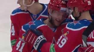 Чед Биллинс открывает счет голам в КХЛ / Chad Billins score his first KHL goal