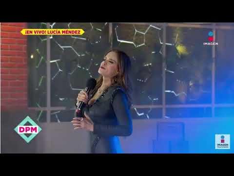 ¿Qué pasó? Cantaba Lucía Méndez en TV nacional y pide que la corten