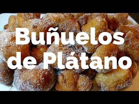 Buñuelos de plátano (receta casera fácil de hacer)