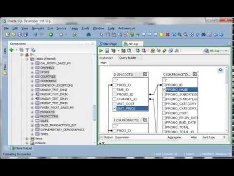 Oracle SQL Developer: Query Builder Demo