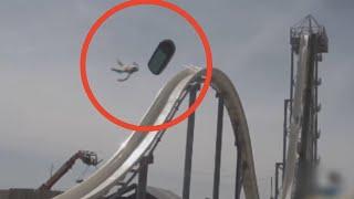 kid goes down water slide wrong...