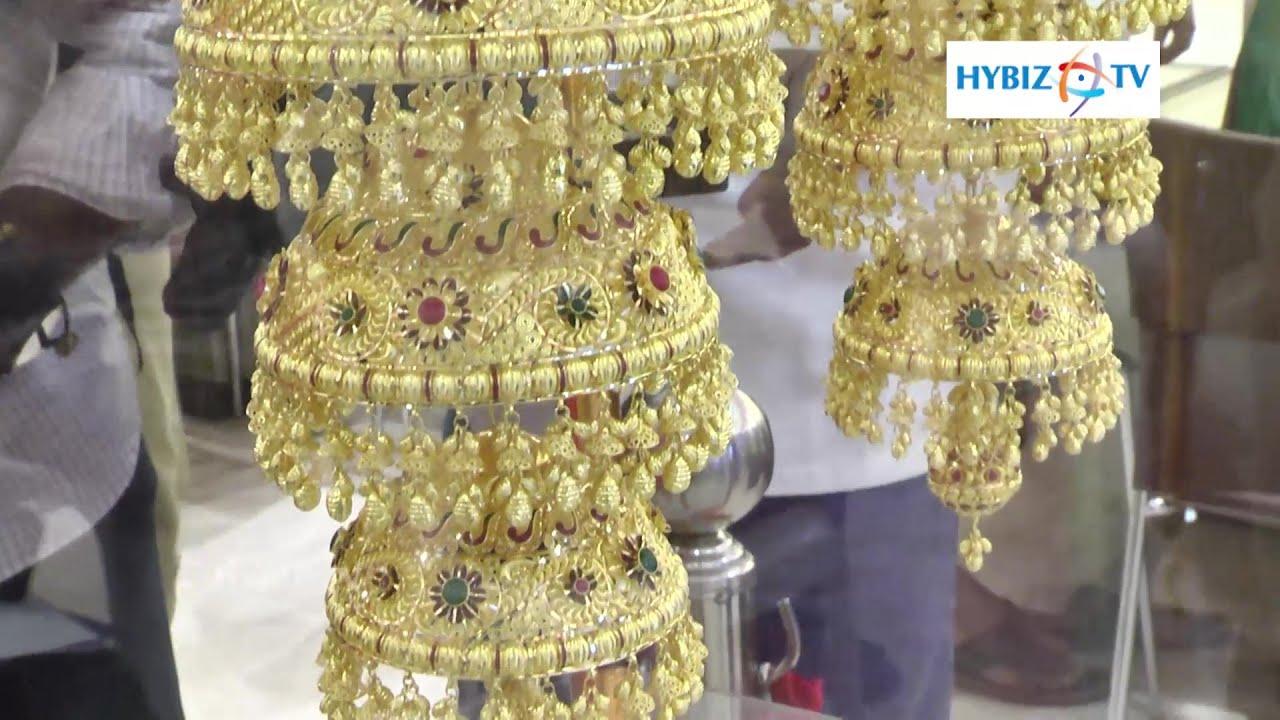 1 KG Jhumka Earrings Made By GRT Jewellers - Hybiz.tv - YouTube