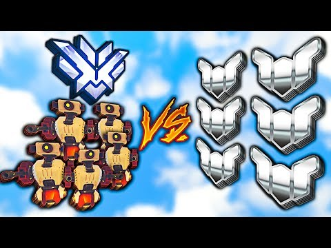 Can a Top 500 CARRY 5 Bots vs 6 Platinum? - Overwatch thumbnail