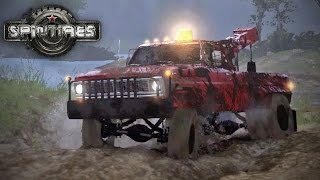 Spin Tires MP with Mods - Episode 12 - Big Red Tow Truck