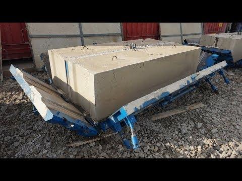 Производство бетонных блоков ФБС в металлоформе