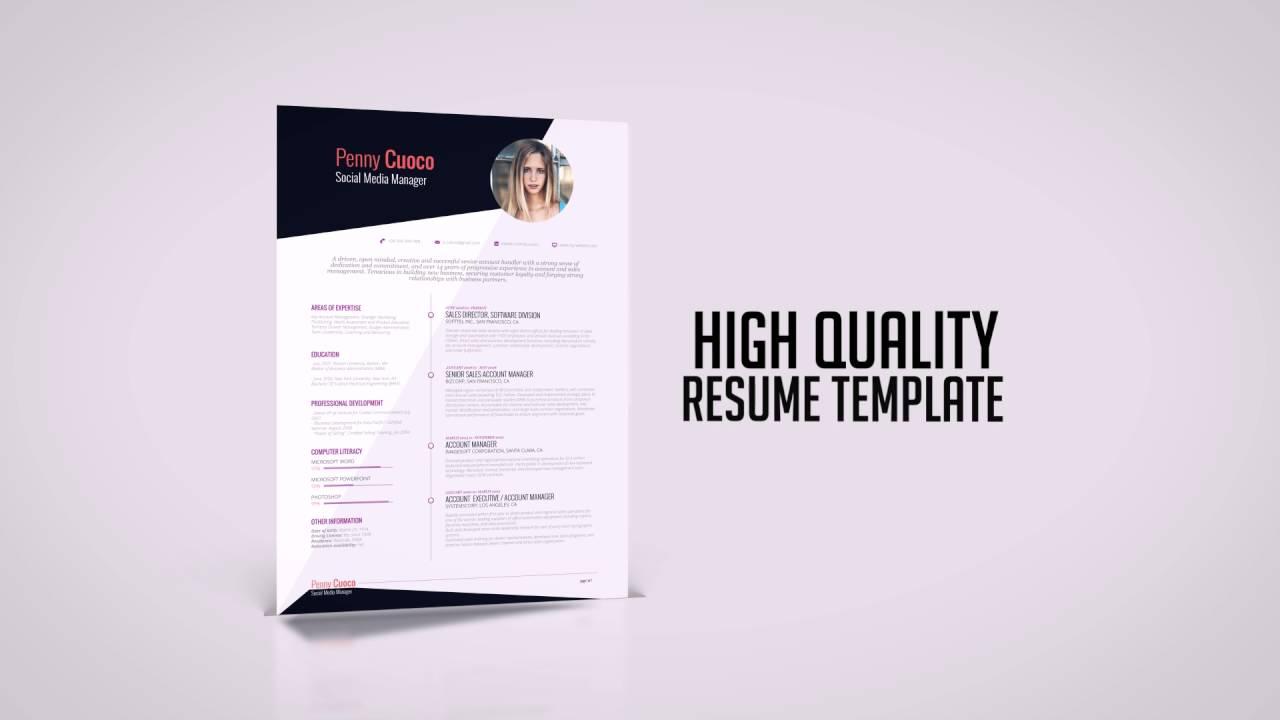 FREE Resume Template Askella - RockStarCV.com - YouTube