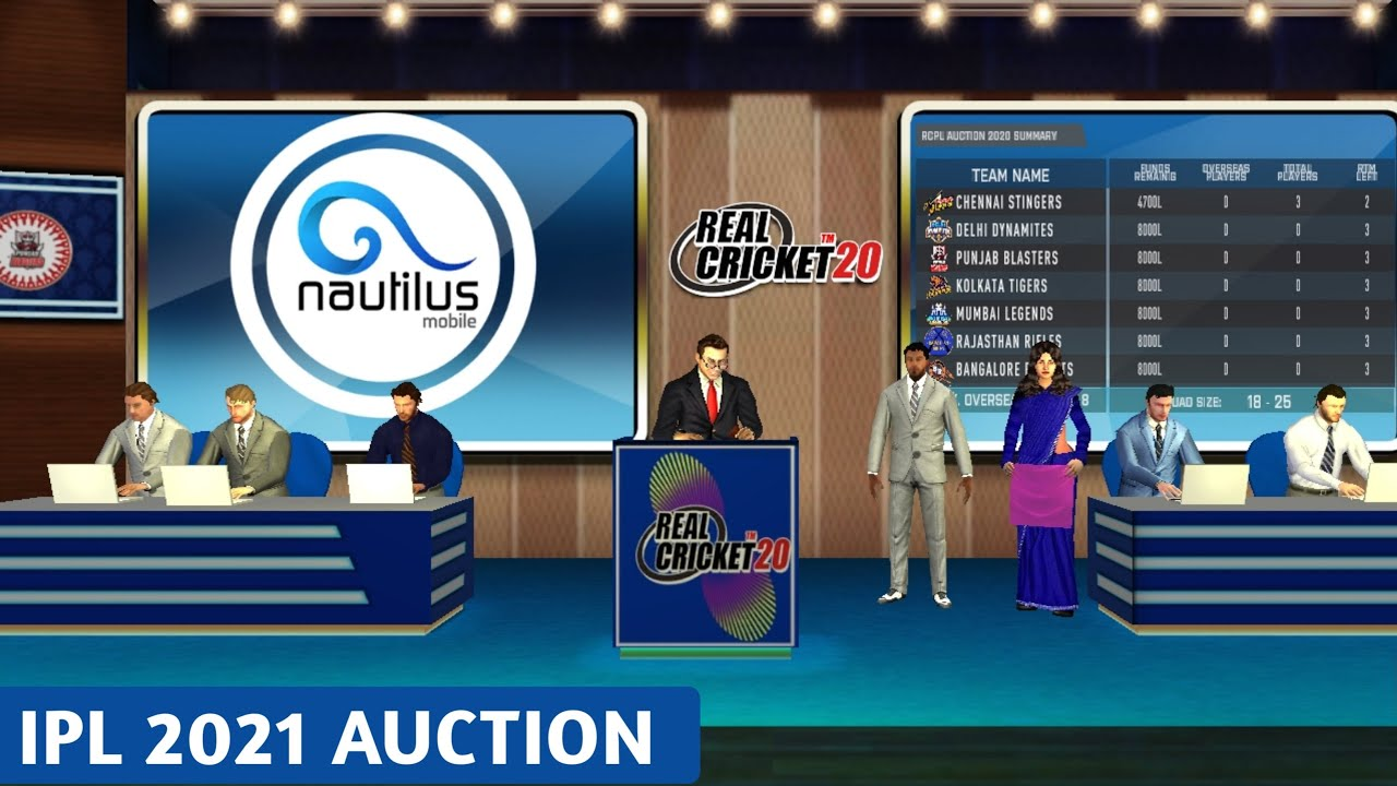 RCPL Auction | Real Cricket™20 LIVE STREAMING