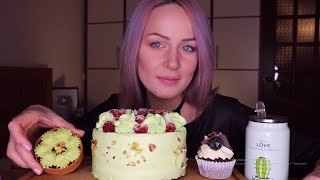 MUKBANG Торт сладости Sweets cake не ASMR