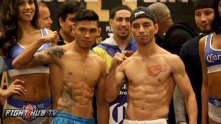 Ortiz vs. Berto 2 undercard weigh in- Rodriguez vs. Williams - Montiel vs. Lara Complete Weigh In