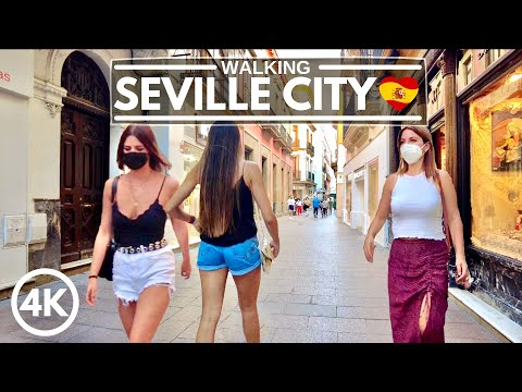 🇪🇸What a Joyful Summer Day at Seville's Popular Shopping District