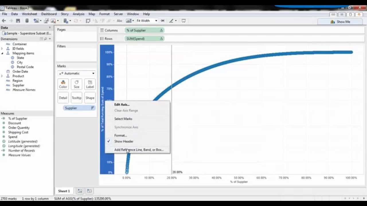 Supplier spend pareto chart in tableau also youtube rh