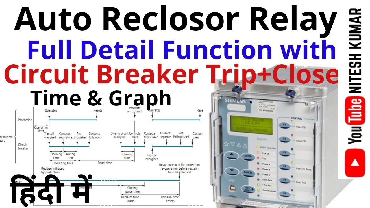 VOL-5} Auto Reclose Relay | AR LOGIC | Scheme Drawing |Control & Protection  Circuit{HINDI}