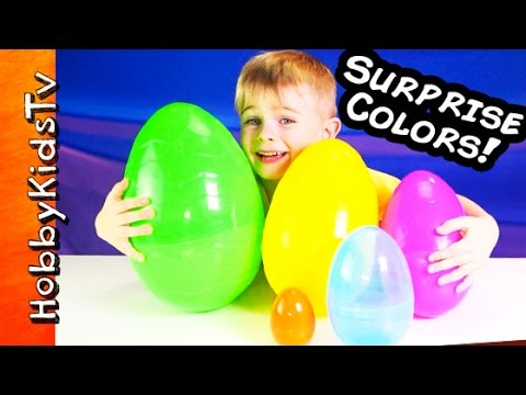 HobbyBabyTV: Surprises! COLORS / LETTERS / NUMBERS / WORDS / Edutainment Learning Fun!