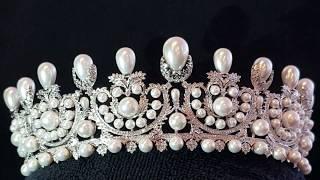 Empress Eugénie Pearl and Diamond Tiara - The French Crown Jewels Copy Replica Fake Faux
