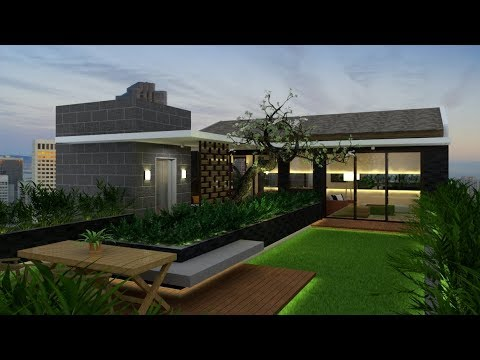 Rooftop Garden Design Build With Google Sketchup Vray 34 Render