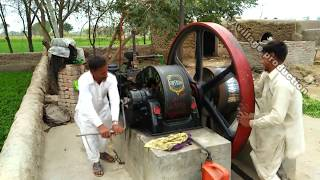 Desi old black engine  Amazing technology With Working Toka machine  Chack Suleman