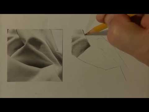 HOW TO DRAW Fabric Folds | Realistic Graphite Drawing Lesson | Tutorial