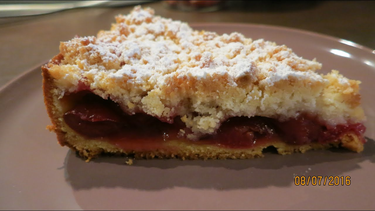 Kirsch streusel kuchen youtube for Youtube kuchen