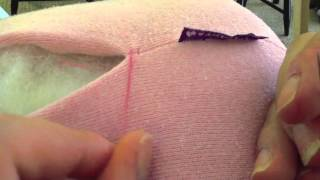 a stitched teddy bear drawing lesson