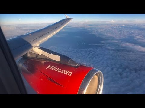 """(HD) """"Blue Bravest"""" Jetblue's FDNY Special Livery Airbus A320, Wing View Full Flight JFK to SRQ"""