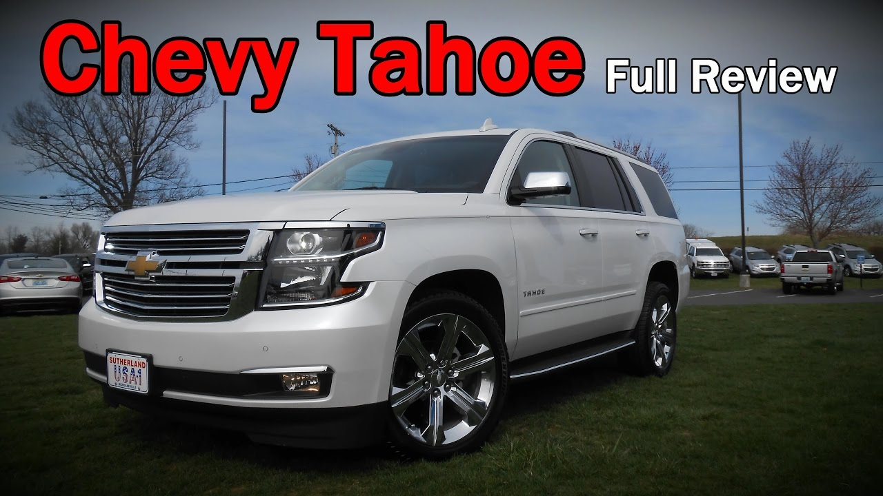 2017 Chevrolet Tahoe Full Review Premier Lt Ls Z71 Midnight Edition