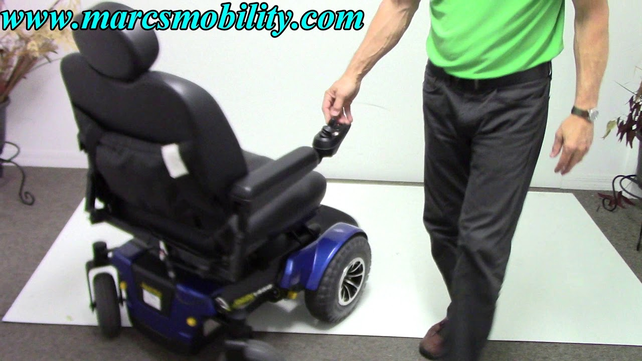 Jazzy Power Chair Used Convertable Bed 1450 Large Powerful Youtube