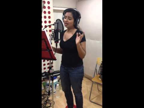 "Shreya Ghoshal's ""Puvvalaku Rangeyala"" Song Recording Video"