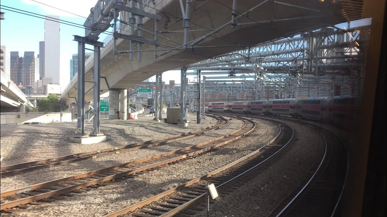 mbta hd 60fps  riding providence line train 808  wickford