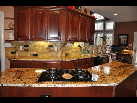 Backsplash Ideas for Granite Countertops Kitchen - YouTube on Granite Countertops With Backsplash  id=32585