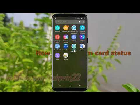 Android Nougat : How to check sim card status in Samsung Galaxy S8 or S8+