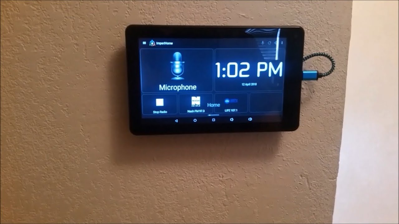 Diy Magnetic Tablet Wall Mount Youtube