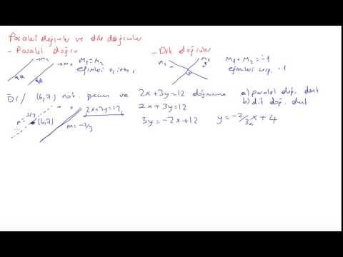 4) Kalkülüs 1 - paralel ve dik doğrular
