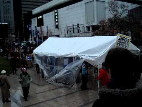 Occupy Vancouver Moving Day Nov 21 2011 from Art Gallery to Courthouse Plaza