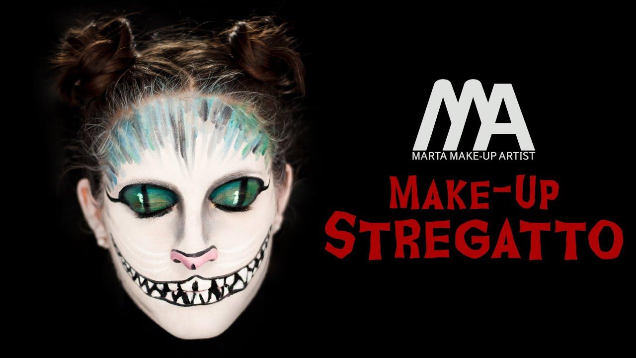 Make up stregatto come truccarsi per halloween marta - Come disegnare immagini di halloween ...