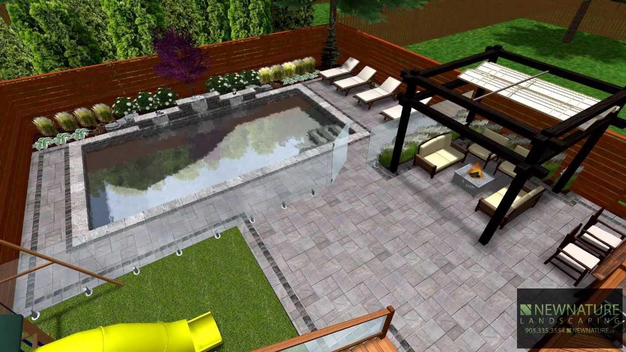 New Nature Landscaping - Designing A Modern Backyard - YouTube