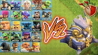 Max Eagle Artillery Vs Every Single Troops🔥Unbelievable Attack🎉Clash of clans😎unity clash😱