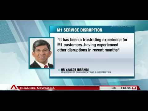 Yaacob Ibrahim expresses dismay over M1 service disruption - 05Feb2014