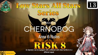 Arknights CC#4 Day 13 Area 6 Ruins Risk 8 + Challenge Guide Low Stars All Stars