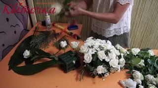 Украшение свадебной машины: композиция на капот