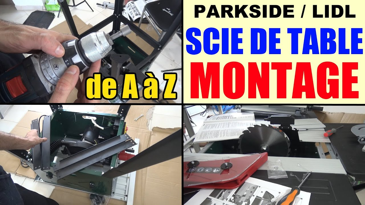 parkside scie circulaire sur table ptk 2000 lidl le montage monter youtube. Black Bedroom Furniture Sets. Home Design Ideas